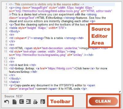 html source code editor