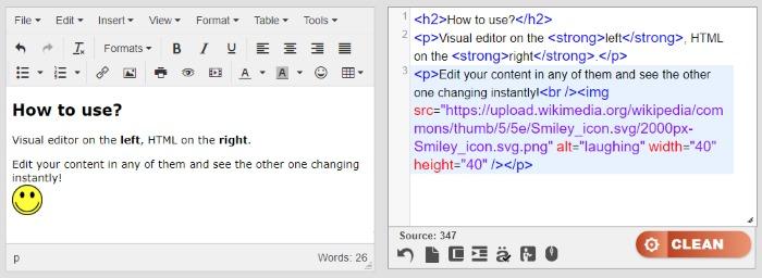 HTML Editor Tools - 𝗙𝗥𝗘𝗘 𝗢𝗡𝗟𝗜𝗡𝗘 𝗪𝗬𝗦𝗜𝗪𝗬𝗚
